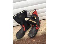 DIADORA MOTORCYCLE BOOTS SIZE 9