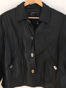 Stylish Black Mint Condition Leather Jacket (indoor wear)