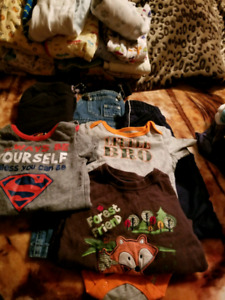 Baby boy clothes over 100 pieces sleepers tshirts