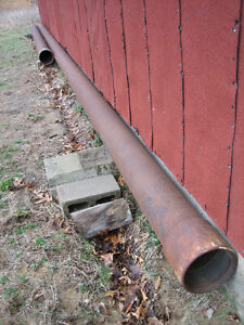 """8"""" Steel Pipes (casing) - Two pieces = 50' total length"""