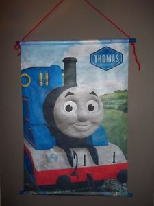 "TOILE DÉCORATIVE MURALE THOMAS & FRIENDS  30"" x 20"" CALEGO NEUF"