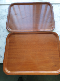 2x heat and steam resistant tray brown