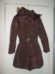 Womens Down-Filled Long Winter Coat