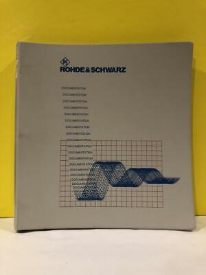 Rohde Schwarz 1110.3339.19-03 Iq Modulation Generator Amiq Operating Manual