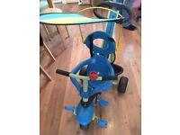 Trike 3in1 tricycle. Blue. Used. Smart trike.