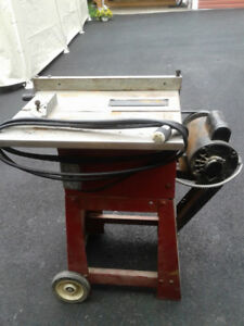 table saw, glue clamps, scroll saw,router, sander / yard sale