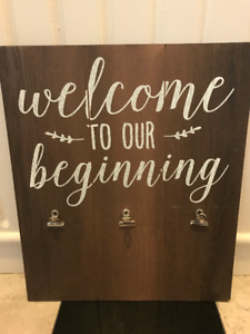 """Wedding Sign - """"Welcome to our Beginning"""""""