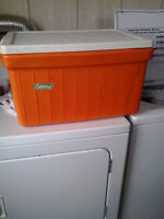 Red large cooler box for travelling