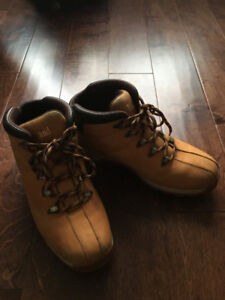 Men's size 12 Timberland boots.