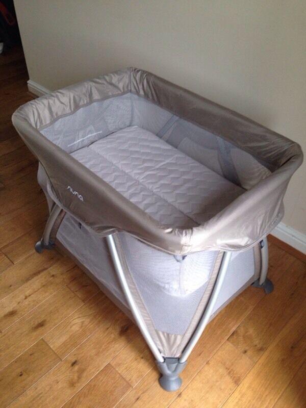 Used Crib Mattress Price Travel cot - Nuna Sena Mini in Safari colour | in ...