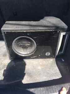 Amp and sub woofer