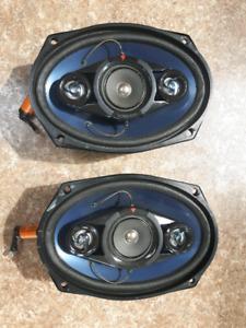 2x Kenwood KFC-6907 3way 6x9 Car Speakers