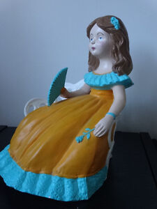 Little girl on a bench, 13 inches tall by 10 inches wide Cornwall Ontario image 3