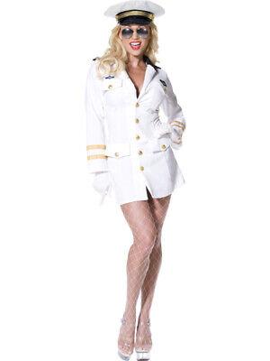 Kostüm sexy Top Gun Offizierin Gr L  - Offizierskostüm Dame Fliegerin L