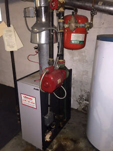 Gas boiler for hot water rads. Including all rads