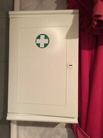 Lockable medicine cabinet with keys