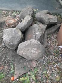 Large rockery stones yorkstone