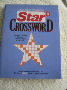 "FIRST TIME JUMBO ""STAR""CROSSWORD PUZZLE BOOK [1992]"