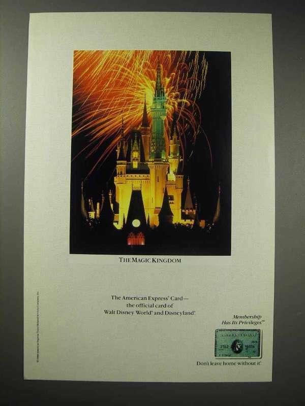 1989 American Express Card Ad - Disney Magic Kingdom