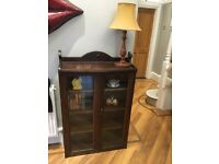Vintage oak display cabinet dresser top shabby chic French wood