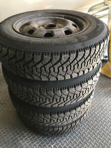 Winter tires for sale with rims, P155/80R13