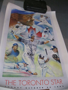 BLUE JAY POSTERS 1992 CHAMPIONS