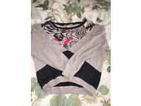River island size 8 slouch jumper