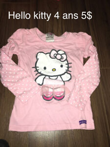 Beau Chandail hello kitty 4 ans 5$