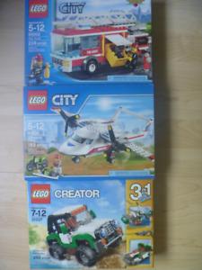 Legos, jeux de société, livres