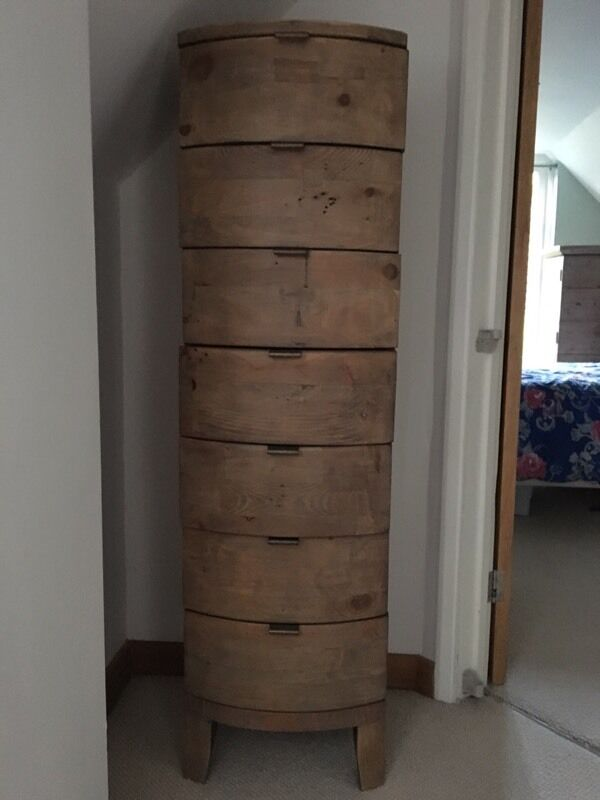PGT reclaimed wood 7 drawer chest of drawers - PGT Reclaimed Wood 7 Drawer Chest Of Drawers In Farnham, Surrey