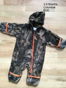 Columbia Camo Bunting 3-6 Months EUC