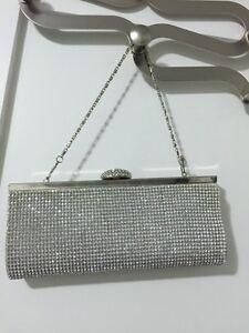 Crystal mesh clutch style