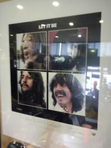 THE BEATLES LET IT BE LITHOGRAPH