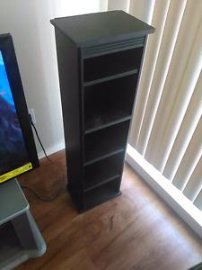 2 Black Storage Stands