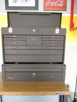 2 PIECE BROWN KENNEDY TOOL CHEST - MUST GO!!!!!!!!