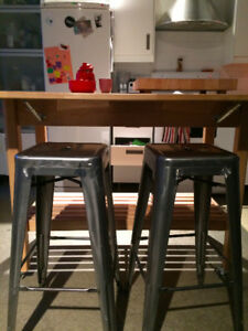 Chrome/Metallic grey counter or bar stools 2 for $100