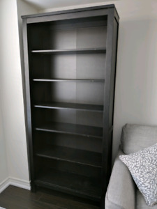 Black brown Ikea Hemnes bookcases