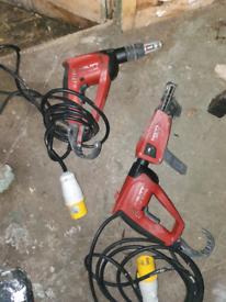 Hilti SF4000 plasterboard screw guns plus collated magazines