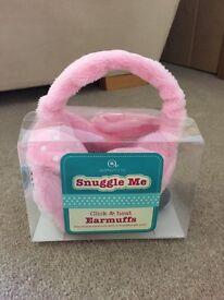 Aroma Home Girls Pink Adjustable Earmuffs
