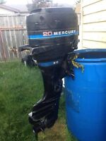 20 hp Mercury outboard- $800