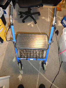 Folding Walker with Basket Excellent Condition!