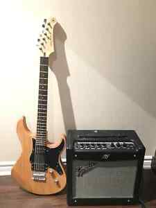 Yamaha Pacifica PAC120H + Fender Mustang I v2 amp
