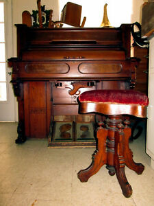Harmonium Antique / Beautiful Eastlake Rolltop Pump Organ