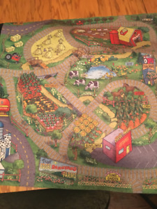 Playmats for cars and trains (set of 4)
