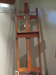 Large Art Easel For Sale (OAK) Kitchener / Waterloo Kitchener Area image 1