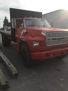 1986 Ford F-800 Flatbed Truck