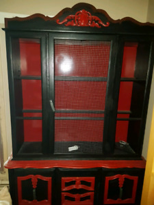 Solid wood cabinet for sale.