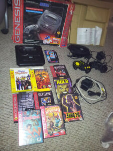 Sega Genesis and 32X Video Game Lot with 10 Games