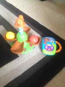Ball Spin Toy and Music Player English French Spanish