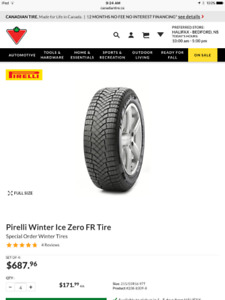 Set of Winter Tires 215/55R16